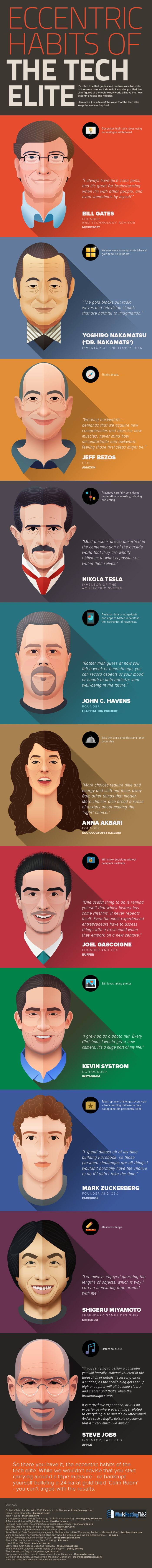 The Helpful Habits Of The Tech Elite (infographic)