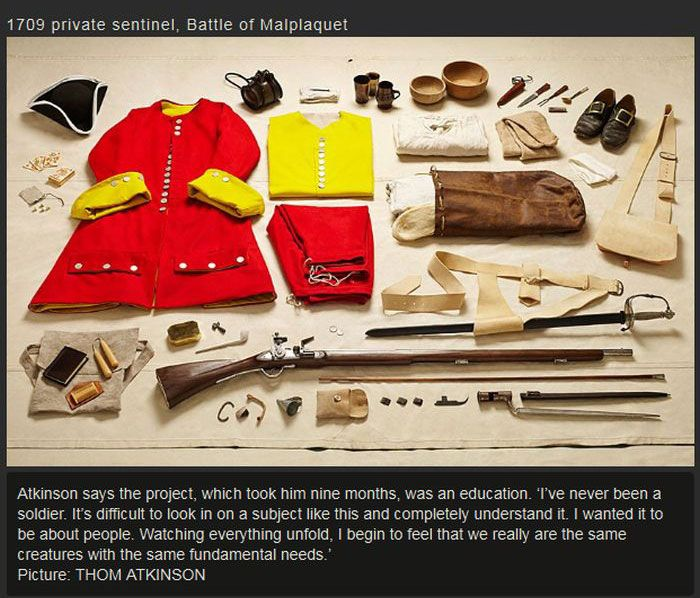 War Soldiers' Kits Back In The Day (10 pics)