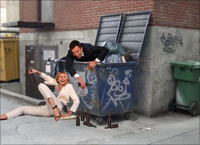 Cameron Diaz And Jimmy Fallon Turn Into A Meme (22 pics)