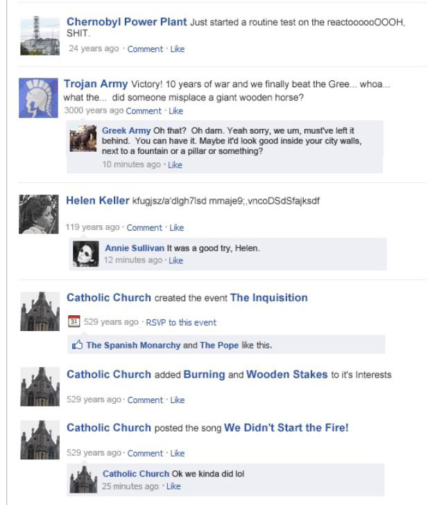 If Historical Events Had Facebook Statuses (12 pics)