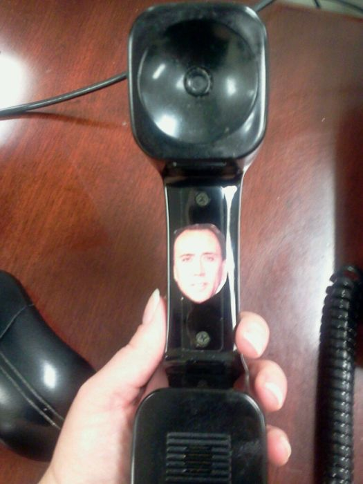 Co Worker Gets Pranked With Nicolas Cage (10 pics)
