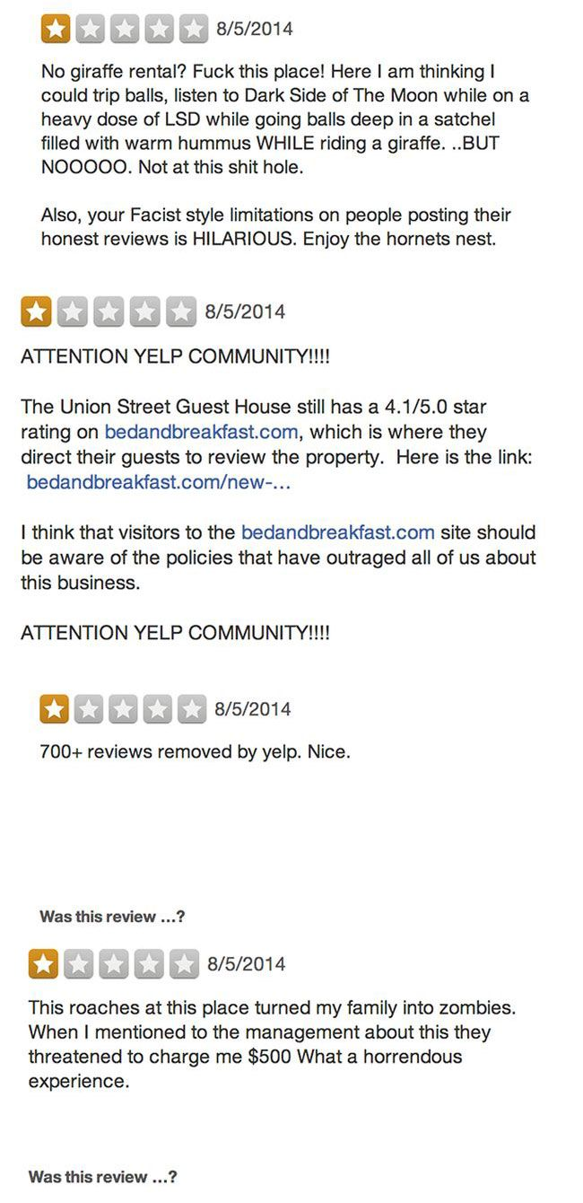 Union Street Guest House Takes On The Internet (9 pics)