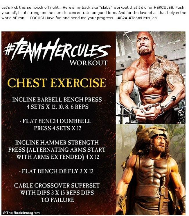 How To Get Ripped Like The Rock (13 pics)