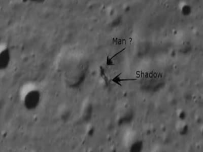 Weird Shadow On The Moon