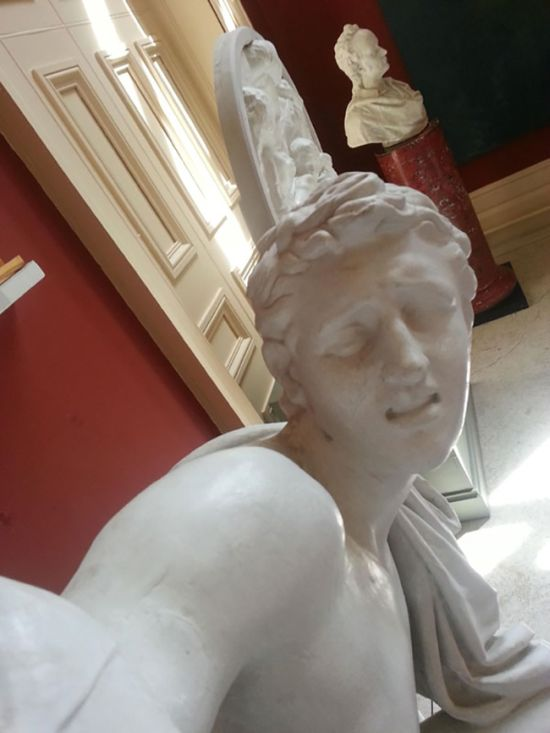 When Statues Take Selfies (4 pics)
