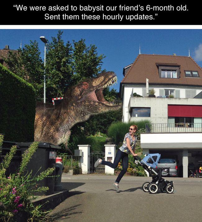 Hilarious Babysitter Photoshops (5 pics)