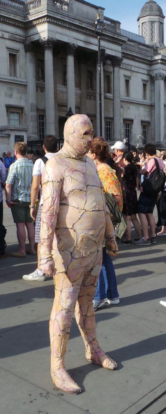 Man Walks Around Town In Chicken Skin Suit (15 pics)