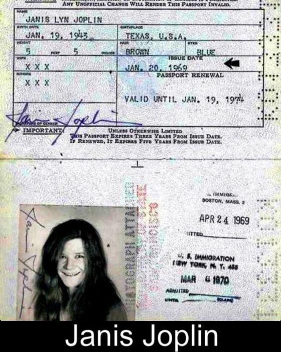 17 Iconic Celebrity Passports (17 pics)