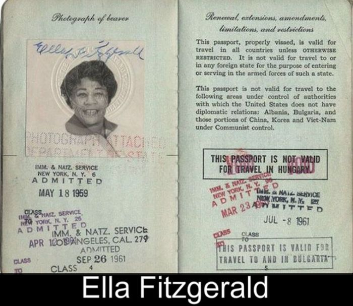 17 Iconic Celebrity Passports (17 pics)