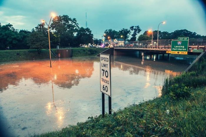 The Flooded Streets Of Detroit (35 pics)