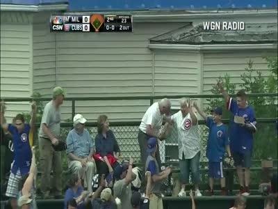 Amazing Baseball Catch Made By Fan