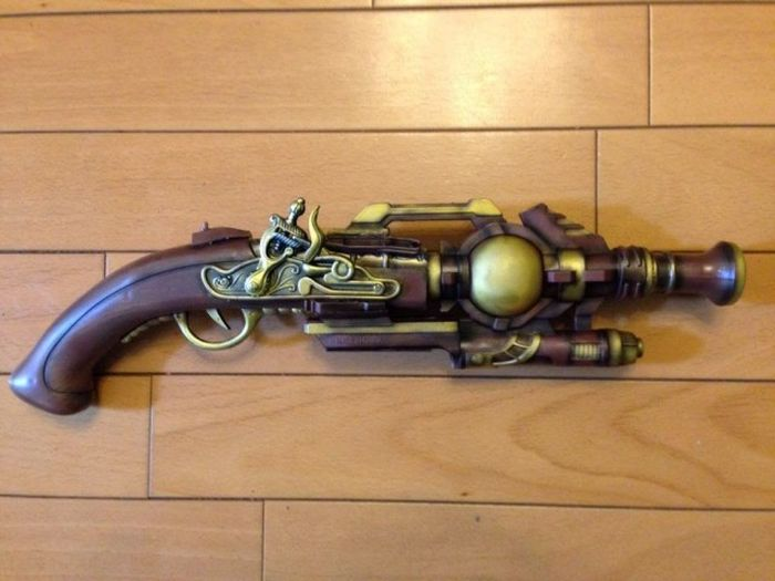 How To Make A Steampunk Handgun (4 pics)