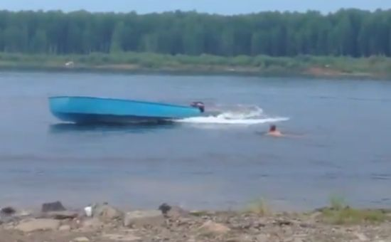 Russian Way To Stop An Uncontrolled Boat