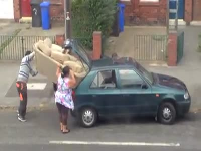 Strange Way To Transport A Sofa