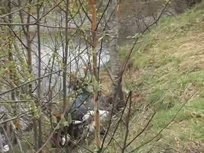 Drunk Guy Falls Into The River