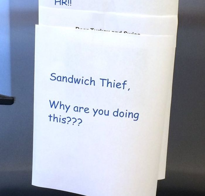 Epic Office Battle Over A Turkey Sandwich (14 pics)