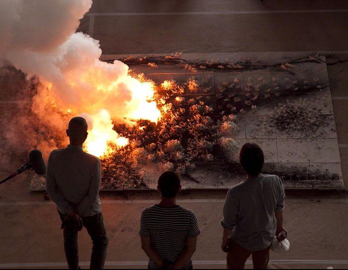 Ateş ile sanat yarattı