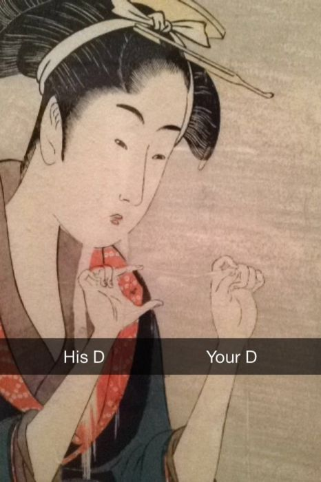 Famous Works Of Art Get The Snapchat Treatment (35 pics)