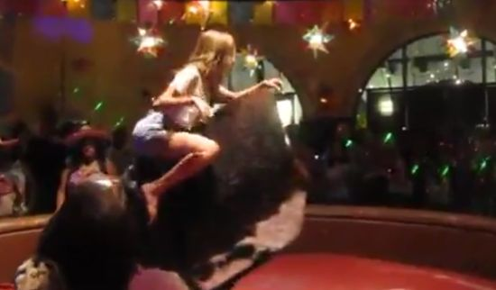 Sexy Girl Rides The Bull Like a Boss