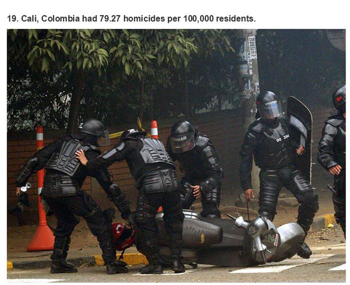 The 25 Most Dangerous Cities On Planet Earth (25 pics)