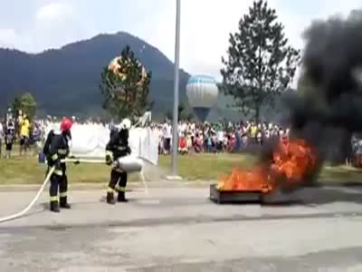 Firefighters Brigade Show Off Fail