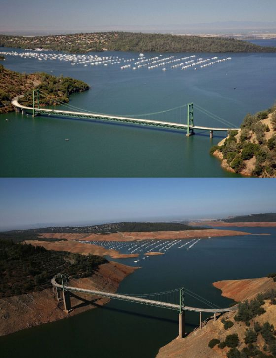 Terrifying Photos Show The Effect Of California's Drought (6 pics)