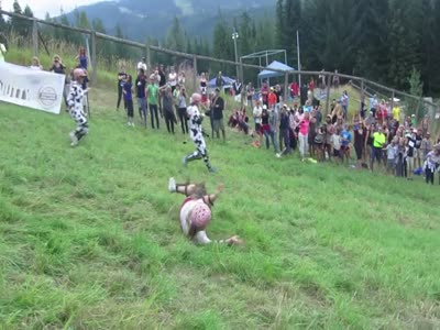 Epic Cheese Rolling Hill Contest Faceplant