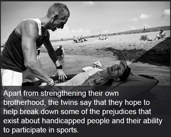 The Heartwarming Story Of The Ironman Twins (32 pics)
