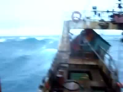 Ocean Storm Vs Fishing Ship