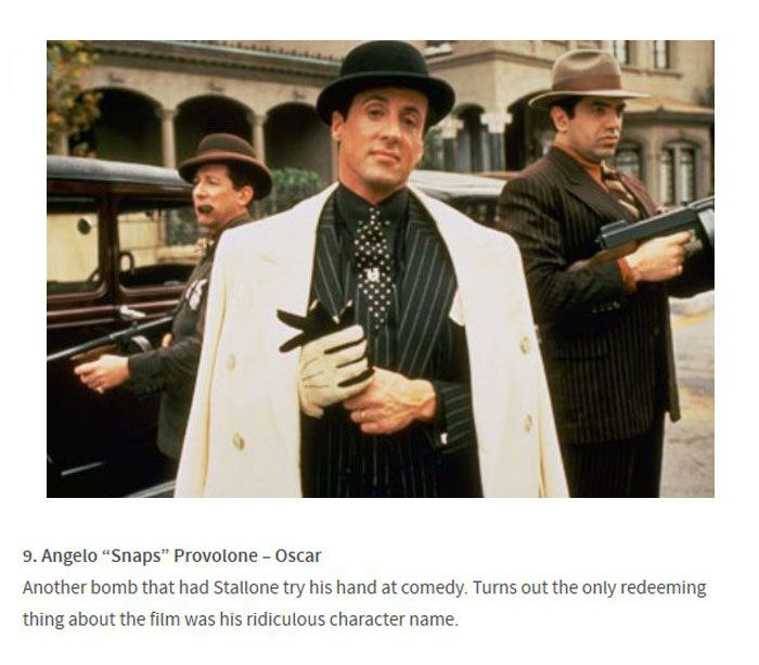Sylvester Stallone's 15 Best Character Names Ever (15 pics)