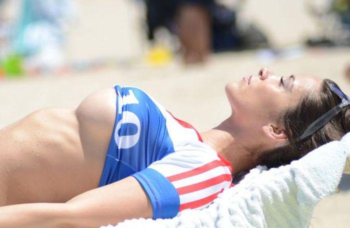 Anais Zanotti Shows Off Her Love For France In A Hot Bikini (7 pics)