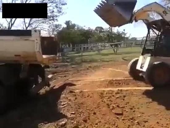 Amazing Bobcat Loading Skills