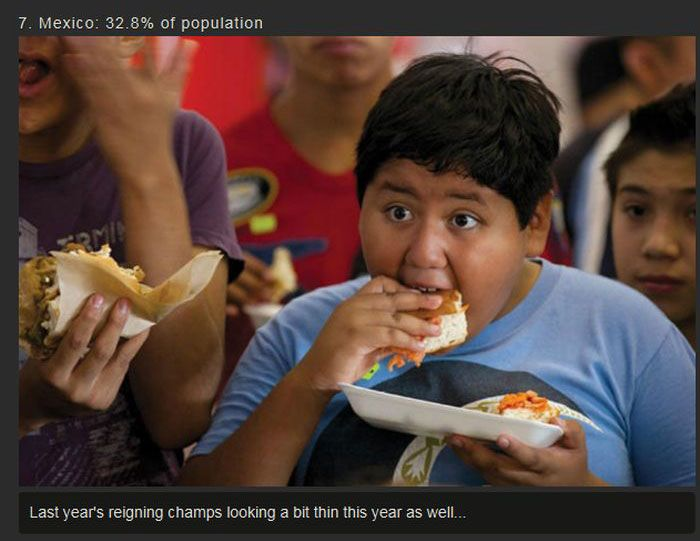 The Top 10 Fattest Countries In The World (10 pics)