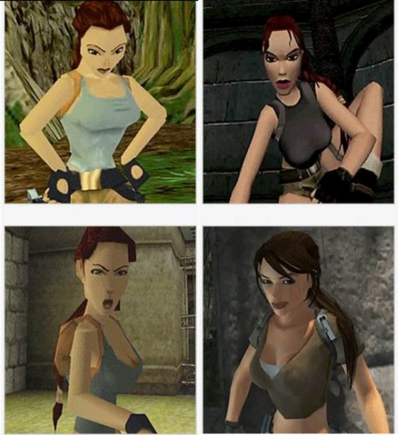 The Evolution Of Lara Croft Over The Years (8 gifs)