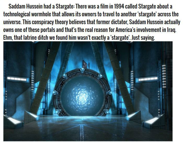 Crazy Conspiracy Theories That People Believe Are True (8 pics)