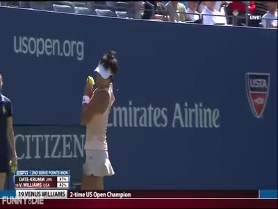 Bee Is Annoying During The Tennis Match