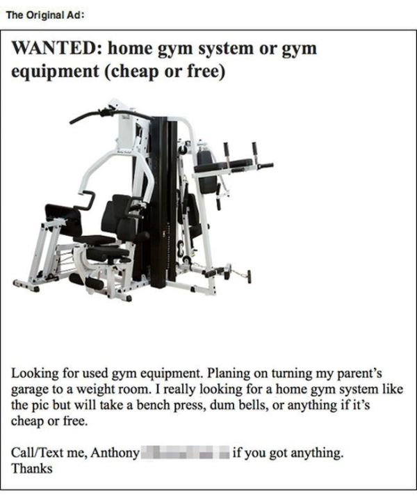 Guy Gets Trolled Trying To Buy Gym Equipment (9 pics)