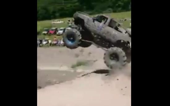 Insane Monster Truck Jump