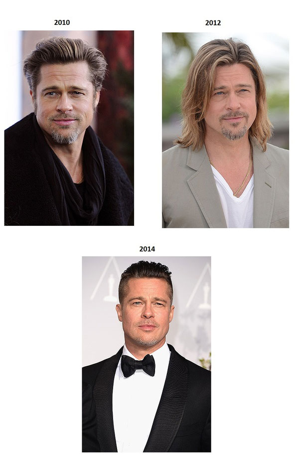 The Evolution Of Brad Pitt From 1988 To Today (5 pics)