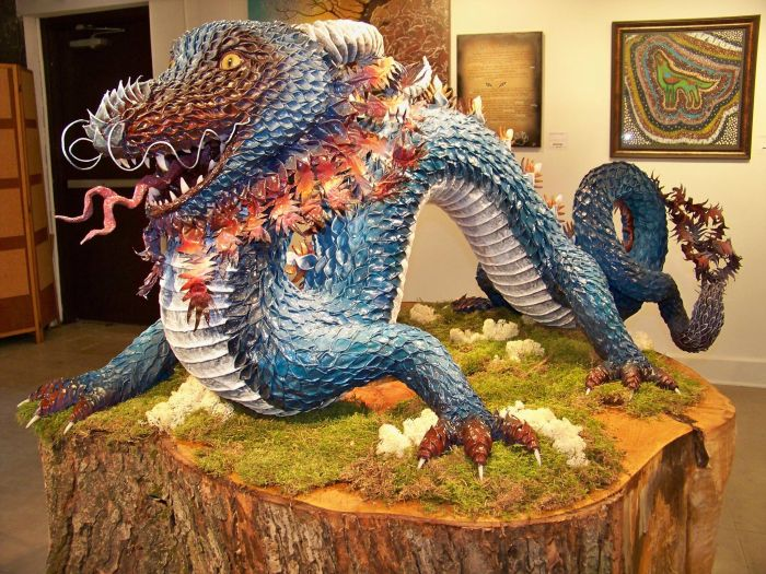 It's Amazing What This Girl Did With Paper Mache (13 pics)