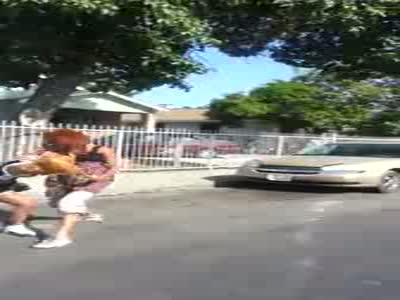 Girls Fighting On The Street