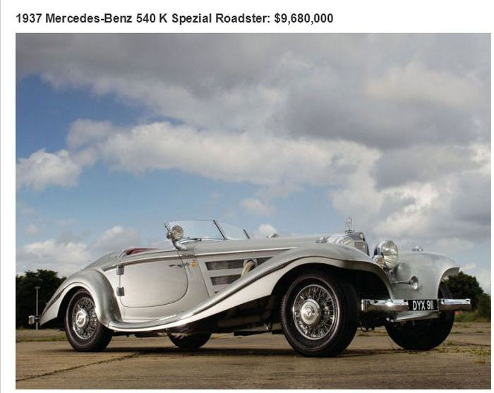 The 26 Most Expensive Cars Ever Sold At An Auction (26 pics)