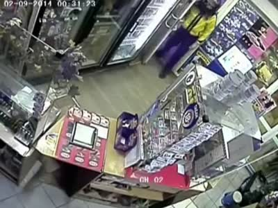 Epic Robbery With Bag On Head