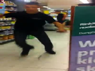 Rage Guy Crashes In The Mall