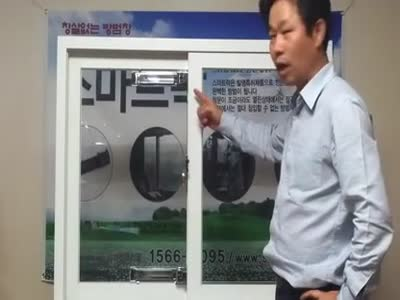 Epic Window Safety Demonstration In Japan
