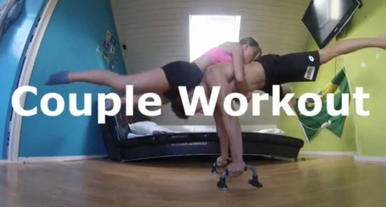 Amazing Couple Workout At Home