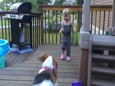 Cute Baby And A Dog