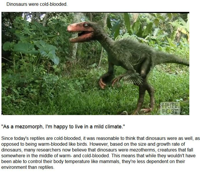 Myths About Dinosaurs Get Mythbusted (5 pics)