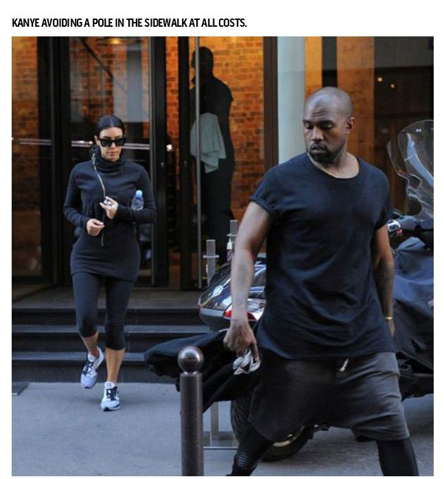 When Kanye West Does Normal Everyday Things (18 pics)