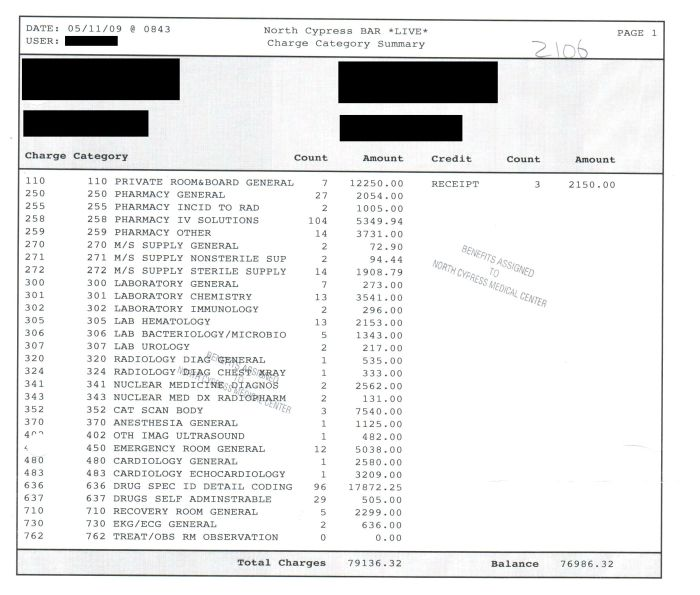 What Medical Bills Cost Without Insurance (13 pics)